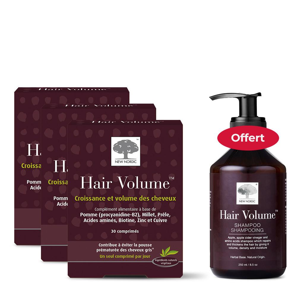 3x Hair Volume 30 CP + Shampooing